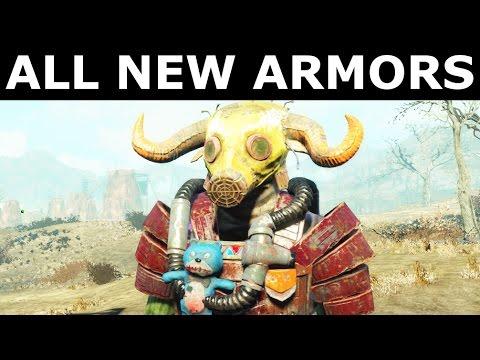 Fallout 4 Nuka World - All New Armors & Outfits Showcase