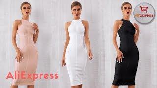 Одежда с AliExpress. Красивое однотонное летнее платье ниже колен без рукавов.