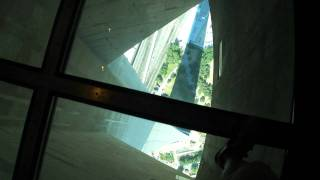 CN Tower: Walking along the glass floor, 342m up