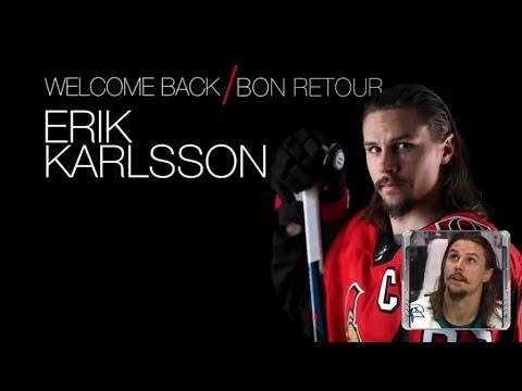 Sens selebrate Karlsson`s return   Dec 1,  2018