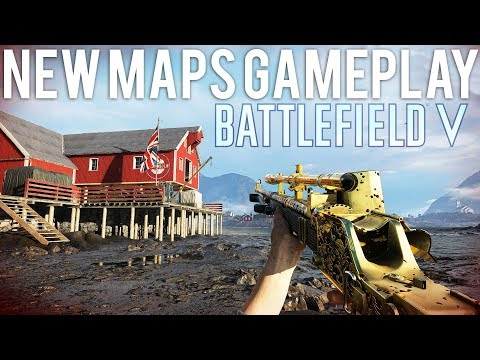 NEW Maps Gameplay Battlefield 5 - Lofoten + Provence, 3 new guns!