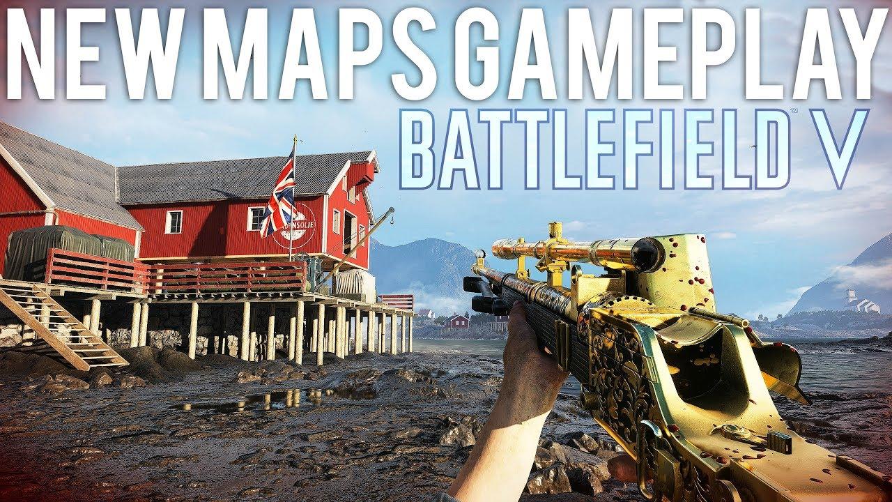 NEU Maps Gameplay Battlefield 5 - Lofoten Provence, 3 neue Waffen! + video