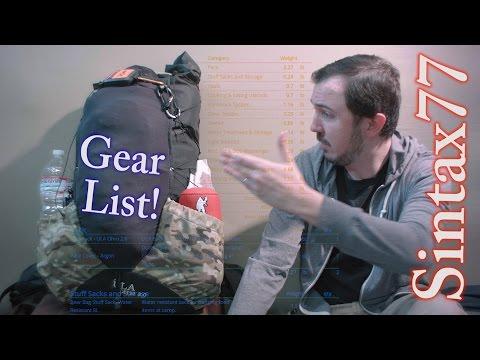 Winter Ultralight Backpacking Gear List