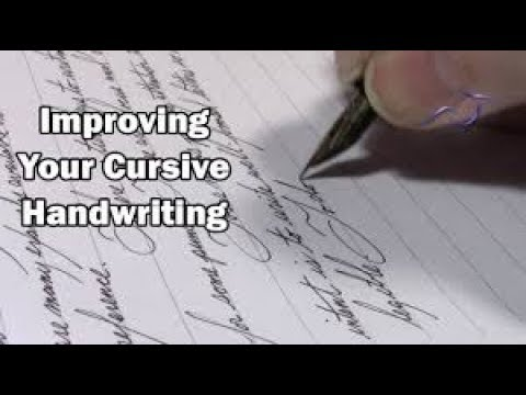 HOW TO WROTE BEST CURSIVE HANDWRITING EVER TIPS CALLIGRAPHY