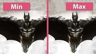 Batman: Arkham Knight – PC Min vs. Max Graphics Comparison [60fps][FullHD]