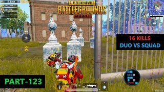 PUBG MOBILE | AMAZING 16 KILLS DUO VS SQUAD IN WINTER MODE