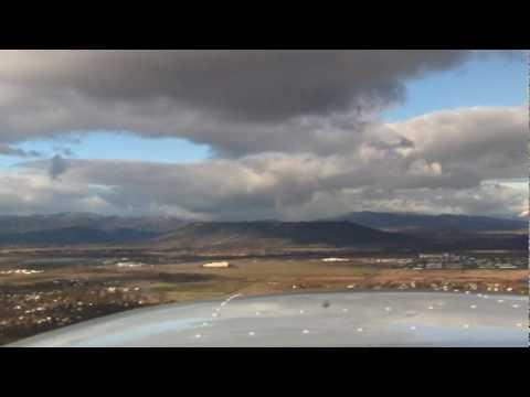 Depart Medford Oregon Runway 32 Table Rocks, Snow Showers, Sun Shine, Rainbows