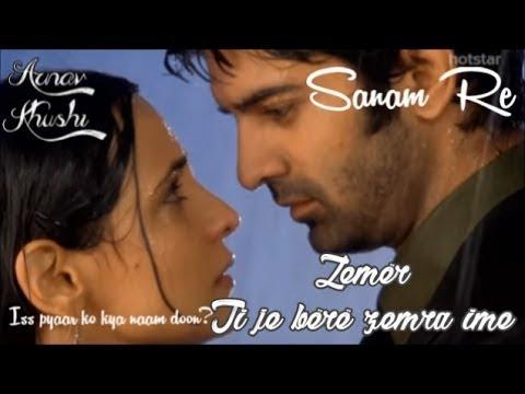 Arnav And Khushi - Sanam Re ( Zemër ) Albanian Lyrics | Iss Pyaar Ko Kya Naam Doon?