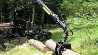 zrywka w lesie,praca w lesie, ursus 1224, palms 665