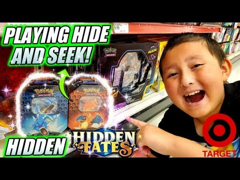 HUNTING FOR NEW HIDDEN FATES POKEMON CARDS AT TARGET! WE BOUGHT EVERY TIN IN THE STORE!