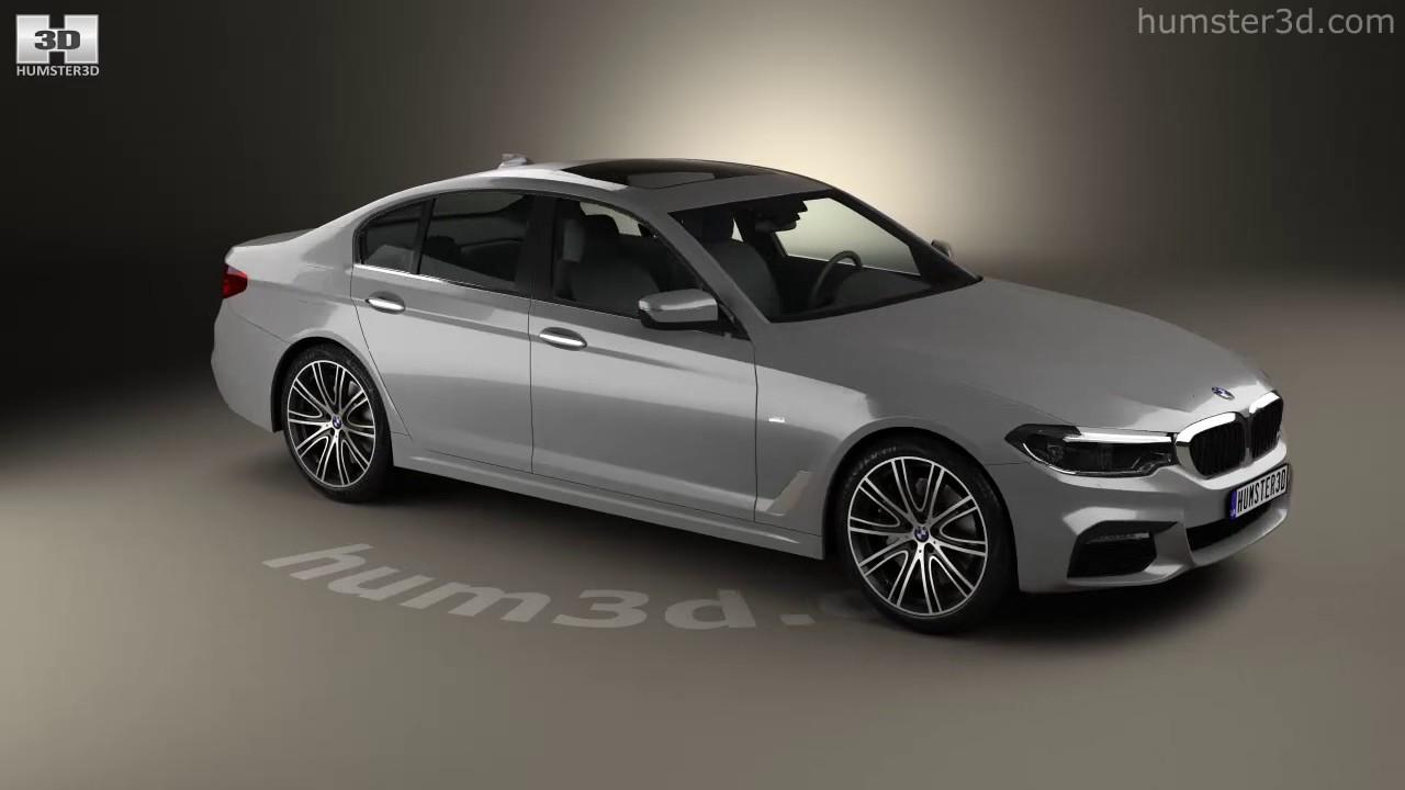 BMW 5 Series (G30) M Sport 2017 3D Model By Hum3D.com