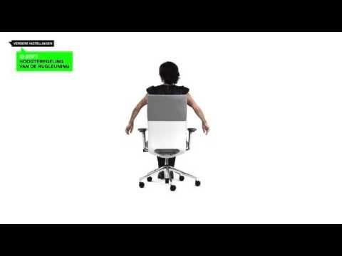 Charles Eames Bureaustoel.Vitra Id Chair Bureaustoel Instructies Voor Instellen Youtube