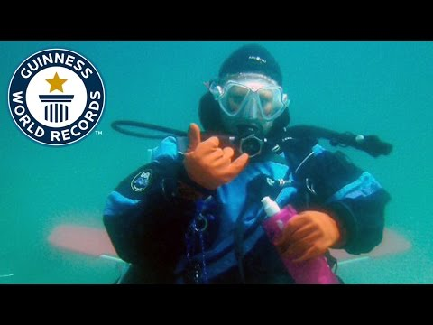 Longest open saltwater SCUBA dive (female) - Guinness World Records