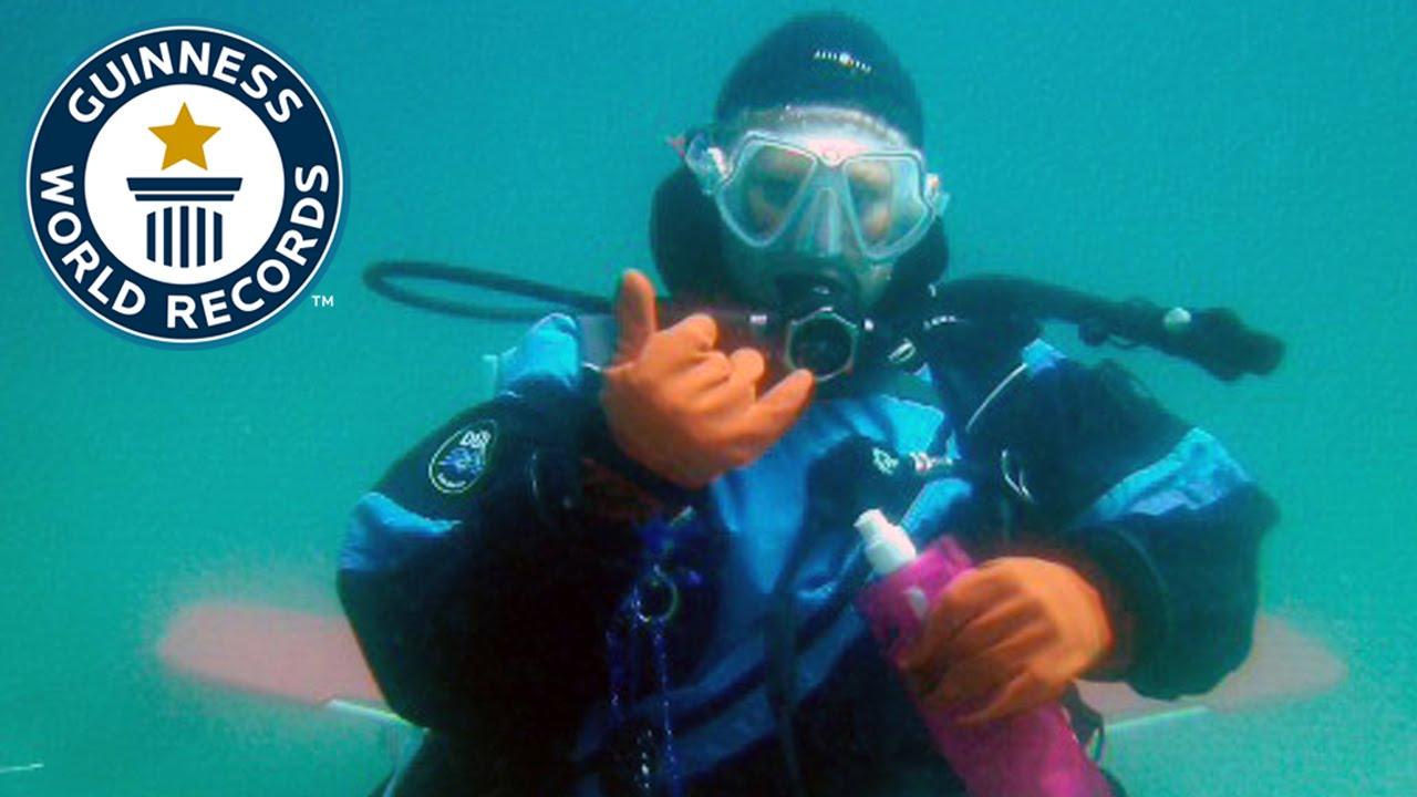 Longest Open Saltwater SCUBA Dive (female)