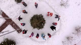 Съемка сквадрокоптера предновогоднего клипа для школы № 2033 г. Москва
