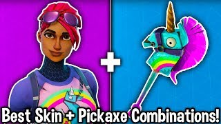 10 BEST SKIN + PICKAXE SKIN COMBOS in Fortnite! (buy these skin combinations)