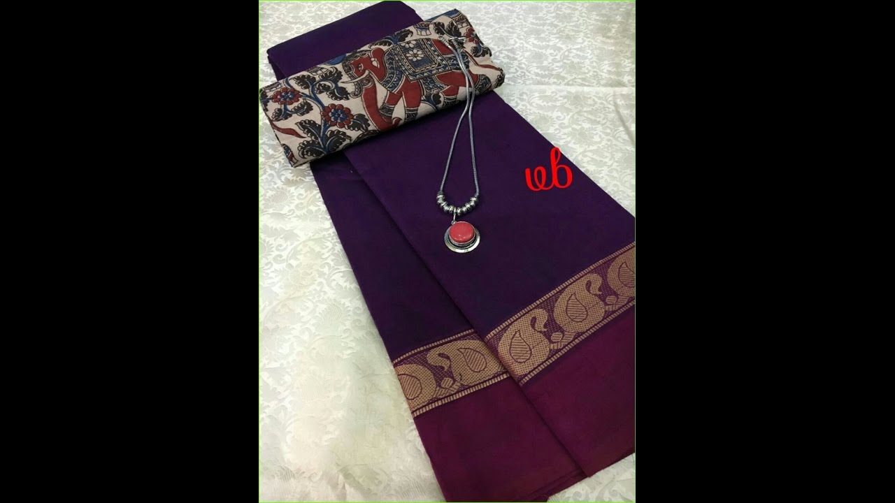 020c3b2980 Chettinad Saree With Kalamkari Blouse Online Shopping