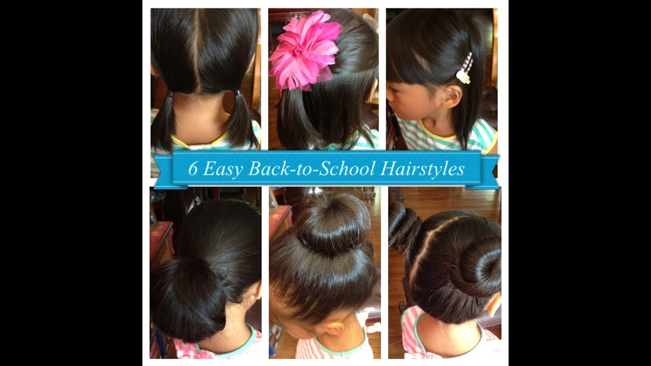 6 Easy Back To School Hairstyles For Girls (Short U0026 Long Hair)   YouTube