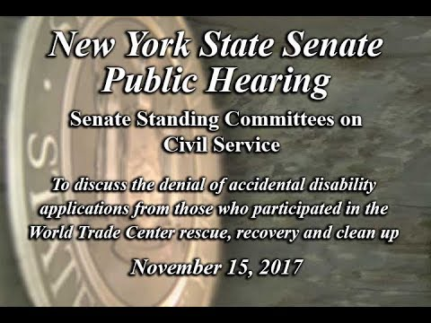 Senate Standing Committee on Civil Service Public Hearing - 11/15/17