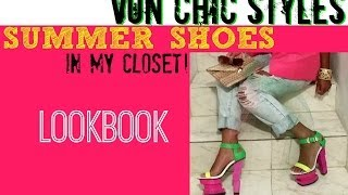Summer Shoes Lookbook In My Closet! Bright Sexy High Heels Designer