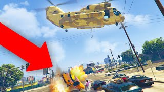 DROPPING CARS FILLED WITH STICKY BOMBS ON PEOPLE! | GTA 5 THUG LIFE #329