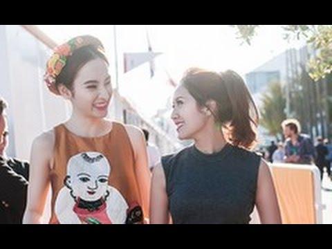 Angela Phương Trinh, Thanh Thúy tươi tắn tại Cannes(tin tuc sao viet)
