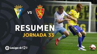 Resumen de Cádiz CF vs Real Zaragoza (3-3)