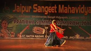 Khatak Dance Performed by Student of Jaipur Sangeet Mahavidyalaya b