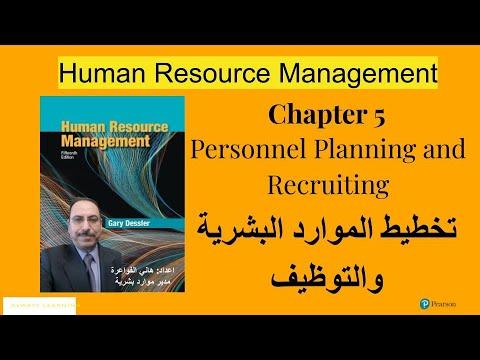 # 07- Personnel Planning and Recruiting ☺: تخطيط الموارد البشرية والتوظيف