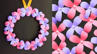 Diy Wall Hanging Paper Flower Craft   Easy Wall Decoration Ideas   Simple Paper Craft