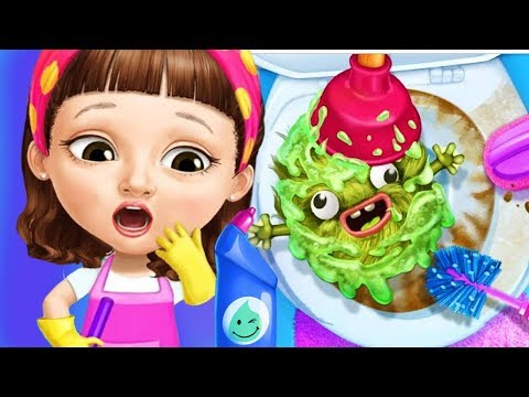 Fun Sweet Baby Girl Clean Up House Makeover - Pony Horse Care BBQ Pool Cleaning Kids & Girls Games