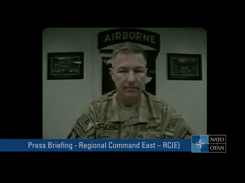 Press briefing - ISAF Commander Regional Command East - RC(E)