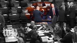Watch Graham shuttle on the Senate floor as a shutdown loomed