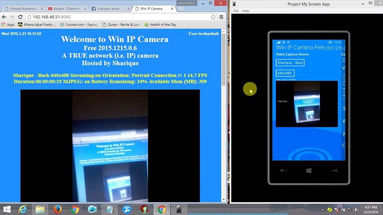 Windows Phone Into Cctv Camera