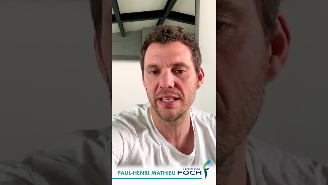 Message de soutien du tennisman Paul-Henri Mathieu envers l'Hôpital Foch