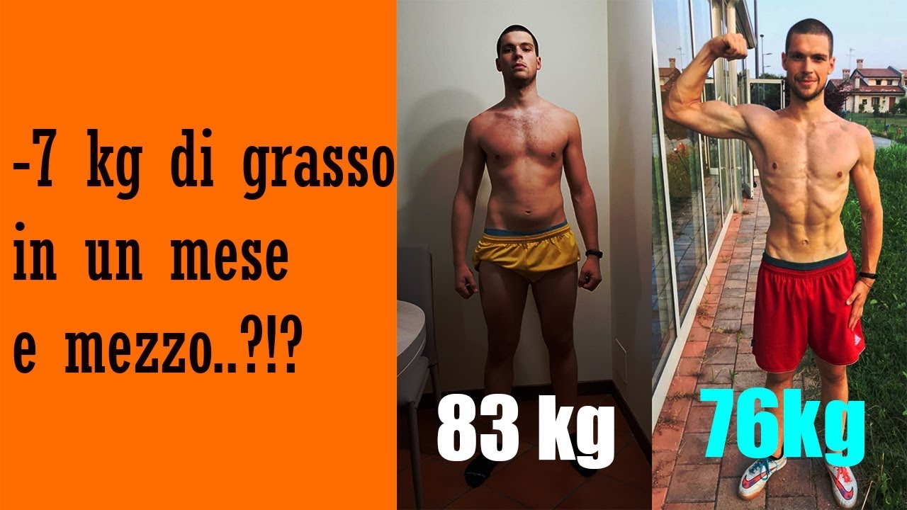 perdere 3 kg di grasso in un mese
