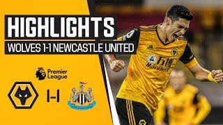 Jimenez scores again but the Magpies earn a point | Wolves 1-1 Newcastle United | Highlights