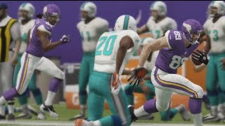 Madden NFL 25 - Vikings vs Dolphins Gameplay (Xbox 360) Full Game!