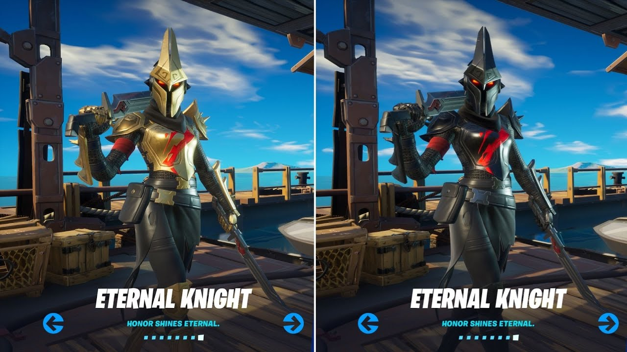 How to Unlock Black and Gold Eternal Knight Edit Styles in Fortnite! - All Week 9 Challenges Guide!