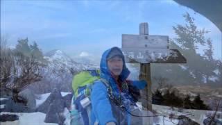 女峰山(雪山)途中撤退 2017 04 05