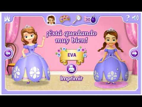 Juego Disney Junior Princesita Sofia Vestir A La Princesa Sofia Español