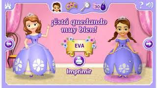 Juego Disney Junior Princesita Sofia: Vestir a la Princesa Sofia. Español