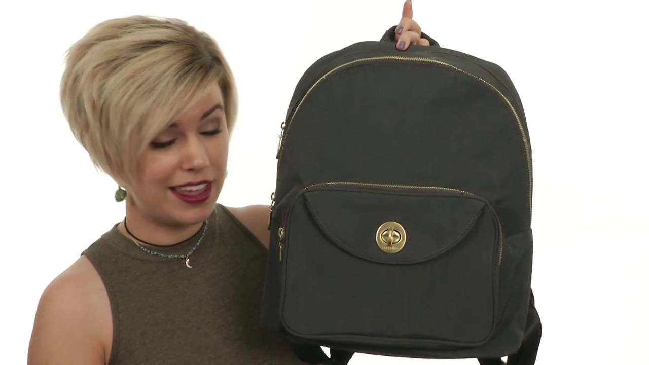 520c38c76b4d Baggallini Gold Brussels Laptop Backpack SKU 8746084 - YouTube