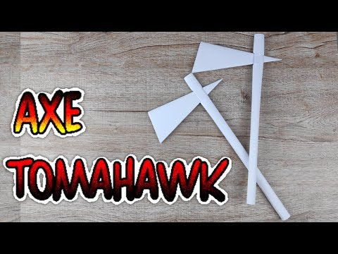 DIY Paper Battle Weapon Axe | How to Make Easy Tomahawk Axe Tutorials | Origami Crafts Idea