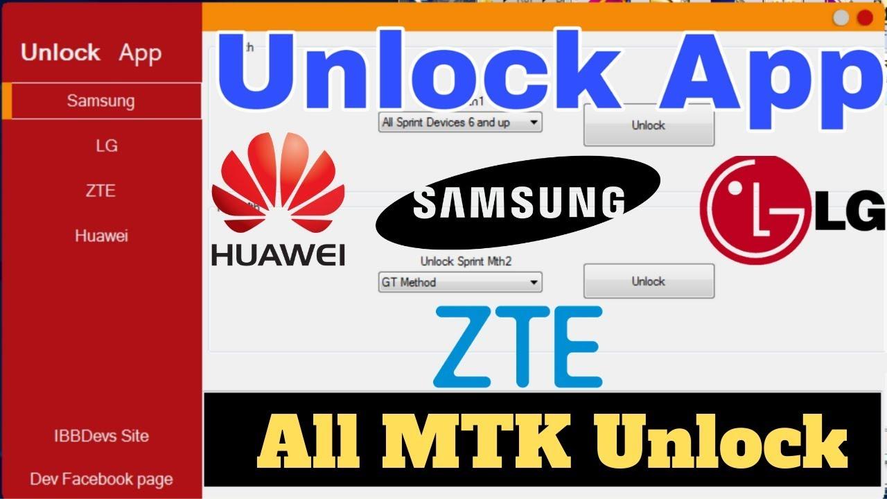 Unlock App | Samsung Zte Huawei LG | All Mtk Device Unlocker