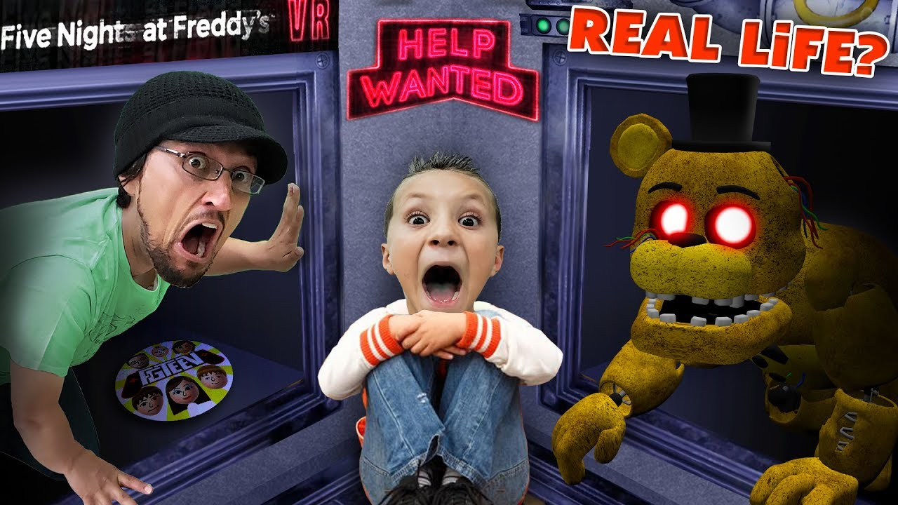 FIVE NIGHTS at FREDDYS: HELP WANTED! Part 1 (FGTEEV Real Life?)
