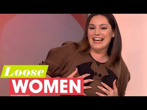Kelly Brook Really Struggles With Her Boobs!  Loose Women