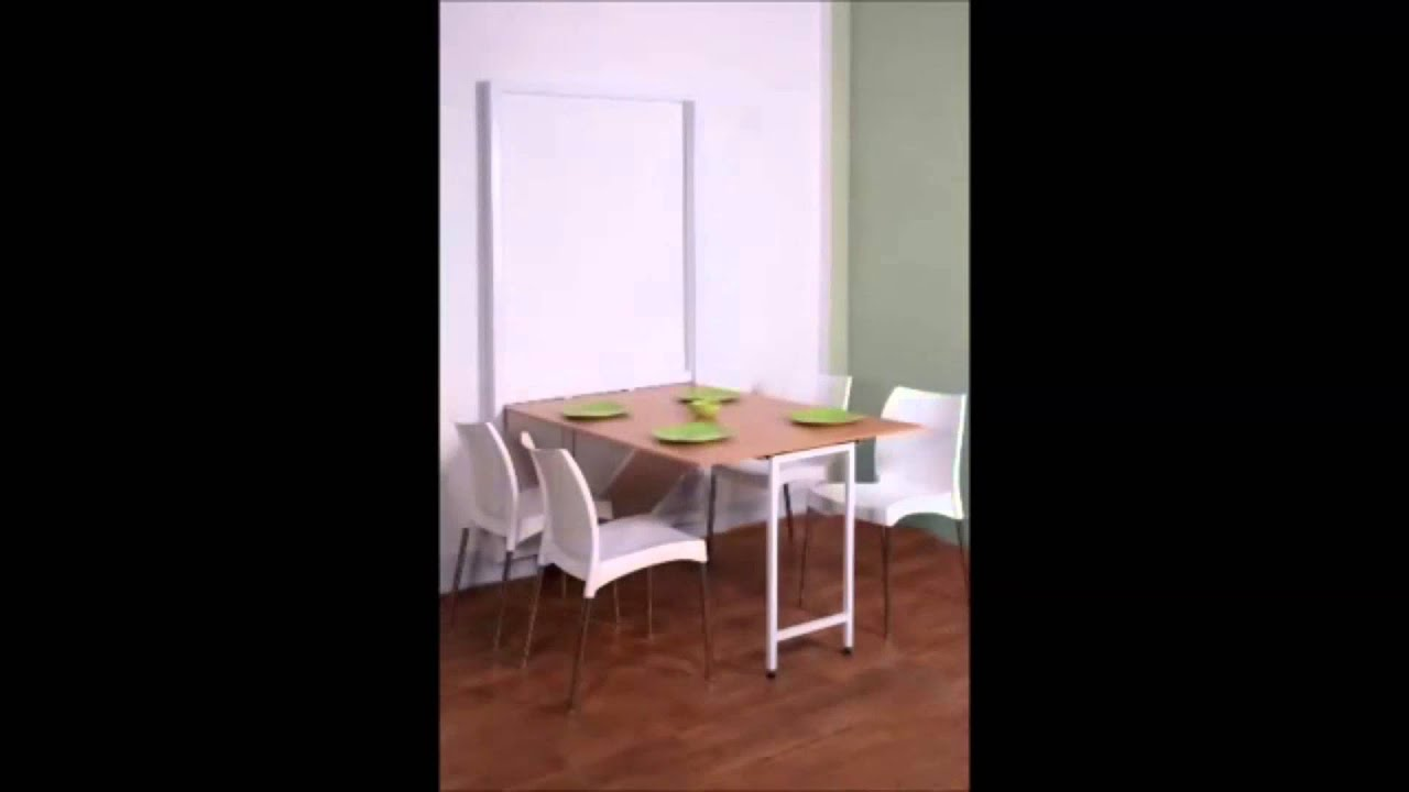 Wall Hanging Dinning Table By Prab Space Saving Concepts YouTube