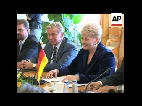 German Chancellor Angela Merkel visits Lithuania