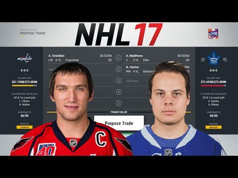 THE RETURN FROM EACH NHL TEAM IF WASHINGTON TRADED OVECHKIN - NHL 17